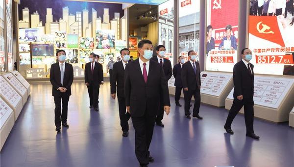 """习近平等党和国家领导人参观""""中国共产党历史展览"""""""