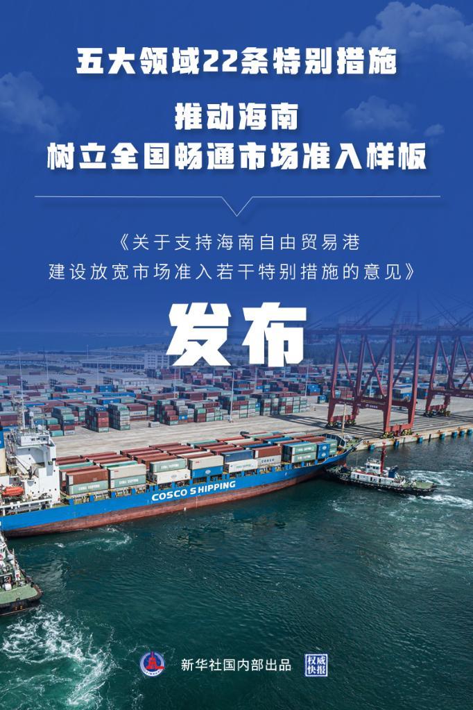 海南自贸港放宽市场准入特别措施发布